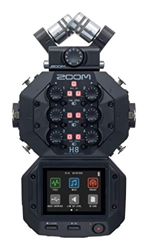 Zoom H8 - 12-Track Portable Recorder - Stereo Microphones