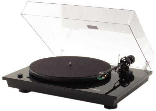 Thorens TD 295 MK IV Semi-Automatic Turntable - 33, 45rpm AT95E (Piano Black)
