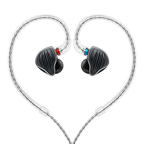 FiiO FH5 Best Over The Ear Headphones/Earphones Detachable Cable Design Quad Driver Hybrid (1 Dynamic + 3 Knowles BA) in-Ear Monitors (Black)