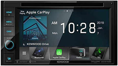 "Kenwood DDX5706S 6.2"" Double Din DVD Receiver with Wired Apple CarPlay"