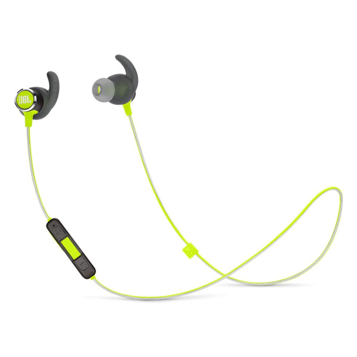 JBL Reflect Mini 2.0, in-Ear Wireless Sport Headphone with 3-Button Mic/Remote - Green