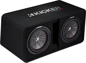 "Kicker Dual CompR 43DCWR102 Ported Enclosure with Dual 10"" CompR Subwoofers"