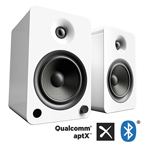 Kanto YU6 Powered Speakers with Bluetooth and Phono Preamp, Gloss White