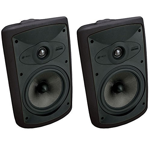 Niles OS7.5 Black (Pr) 7 Inch 2-Way High Performance Indoor Outdoor Speakers (FG00997)