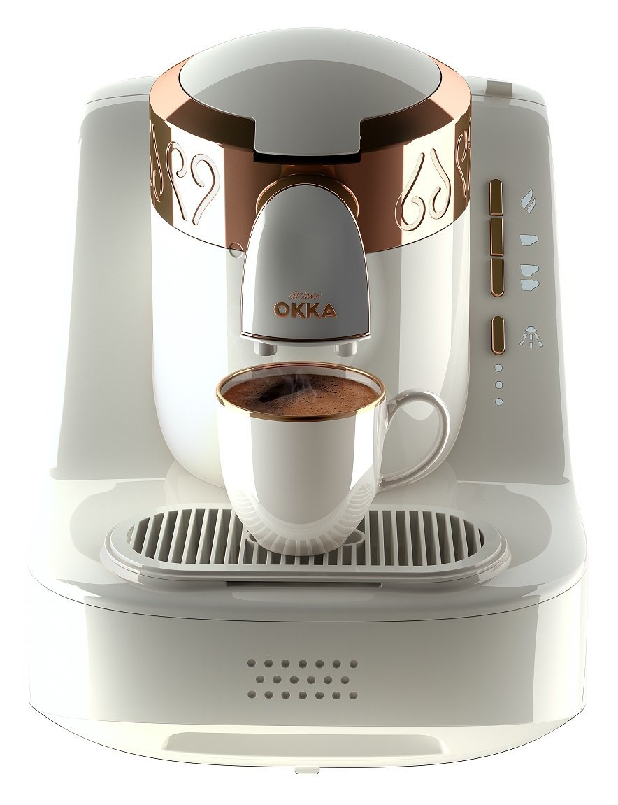 Arzum Okka OK001W Automatic 120V Turkish/Greek Coffee Machine, White/Copper