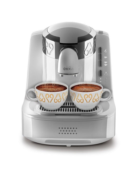 Arzum Okka OK002W Automatic 120V Turkish/Greek Coffee Machine, White/Chrome