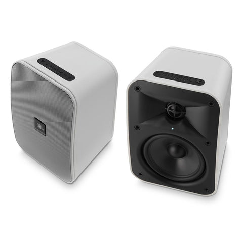 "JBL Control X Wireless 5.25"" Portable Stereo Bluetooth Speakers-Pair (White)"