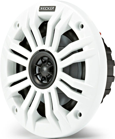 Kicker KM4 4-Inch (100mm) Marine Coaxial Speakers with 1/2-Inch (13mm)