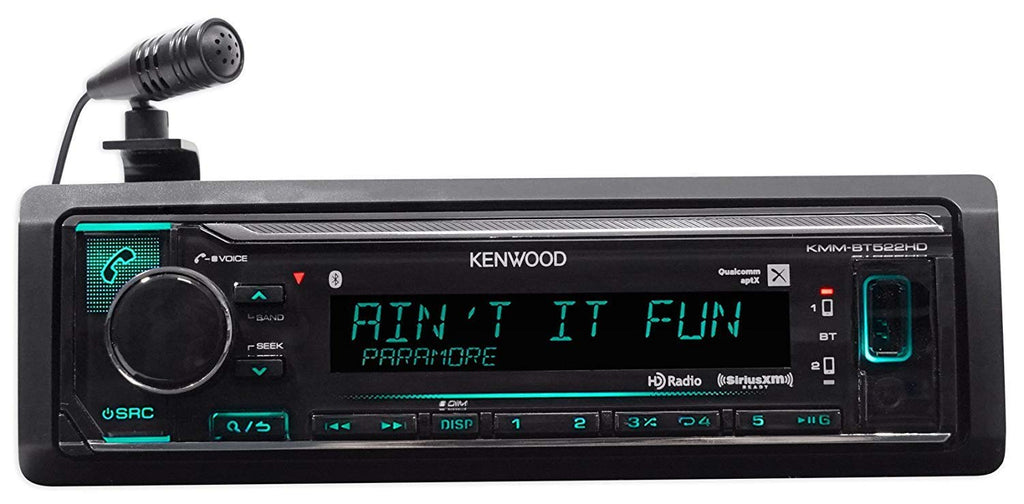 Kenwood KMM-BT522HD in-Dash Car Digital Media Receiver w/Bluetooth/USB/MP3
