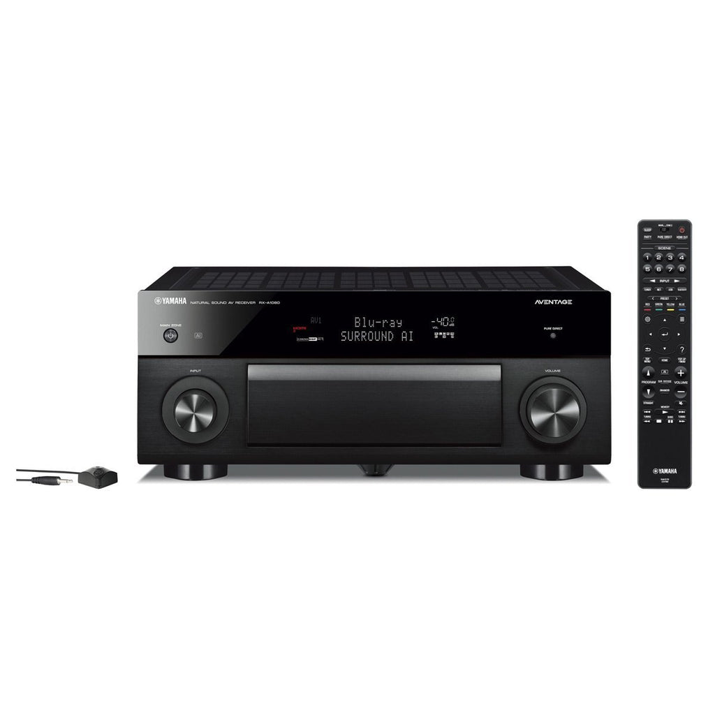 Yamaha RX-A1080 AVENTAGE 7.2-Channel AV Receiver with HDR, Dolby Vision and MusicCast. Works with Alexa