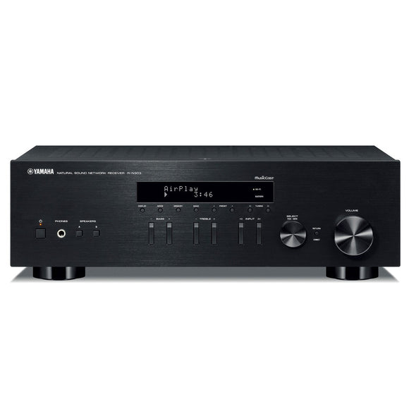 Yamaha - RN303BL - Stereo Receiver With Wi-Fi Bluetooth & Phono - Black