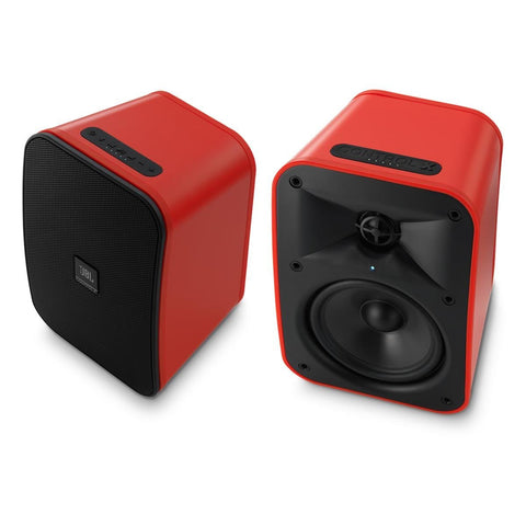 "JBL Control X Wireless 5.25"" Portable Stereo Bluetooth Speakers-Pair (Red)"