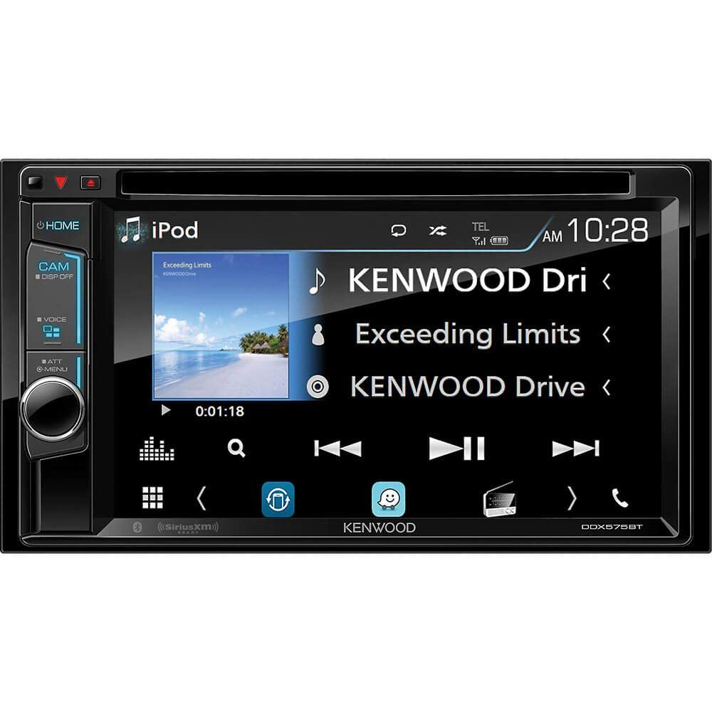 "Kenwood DDX575BT in-Dash 2-DIN 6.2"" Touchscreen DVD Receiver with Waze, Spotify, Pandora, and YouTube Integration via Weblink"