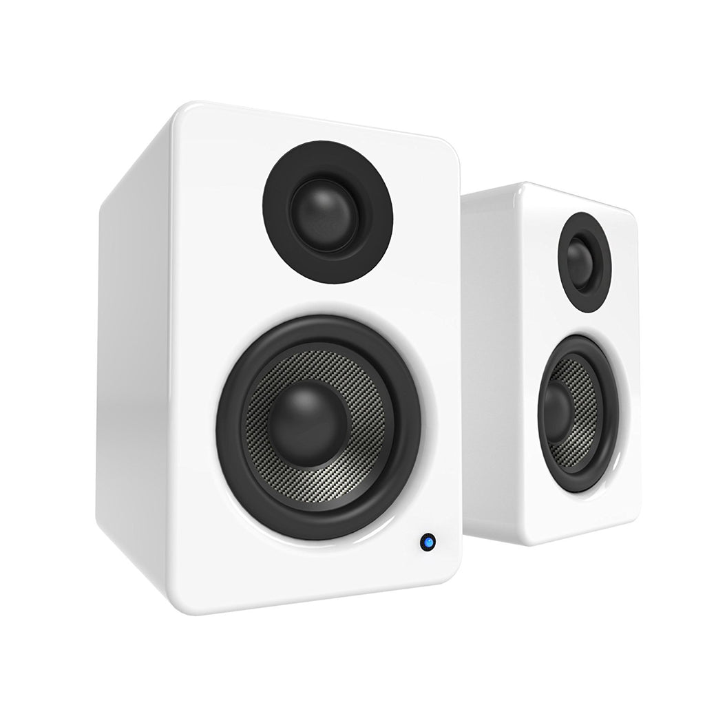 Kanto YU2 Powered Desktop Speakers – Gloss White