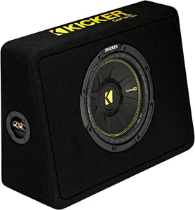 "Kicker 44TCWC102 Ported truck Enclosure with one CompC 10"" 2-ohm Subwoofer"