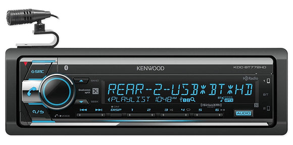 Kenwood KDC-BT772HD Single-DIN Bluetooth CD AM/FM Car Audio Receiver