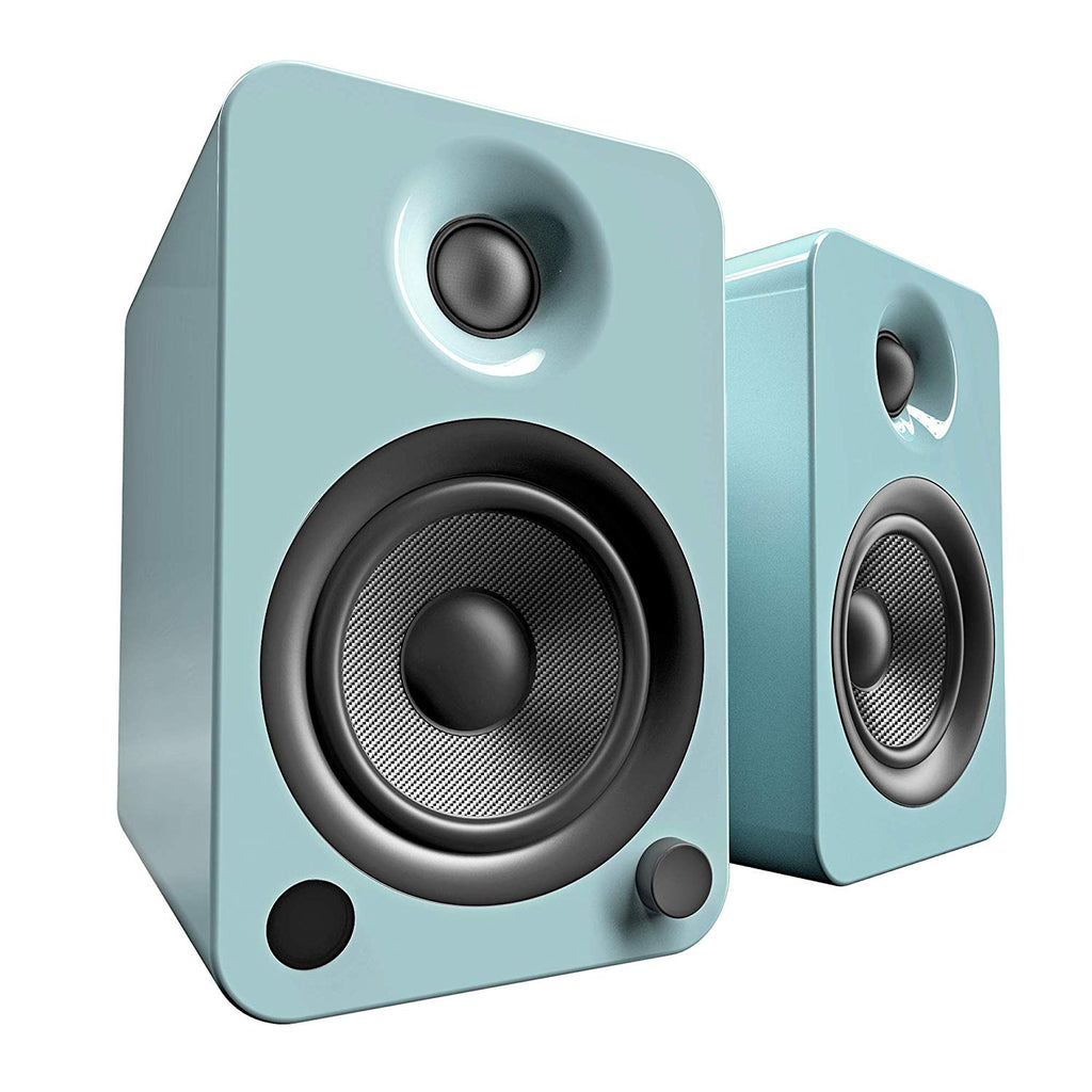 Kanto YU4 Powered Speakers with Bluetooth and Phono Preamp - Gloss Teal