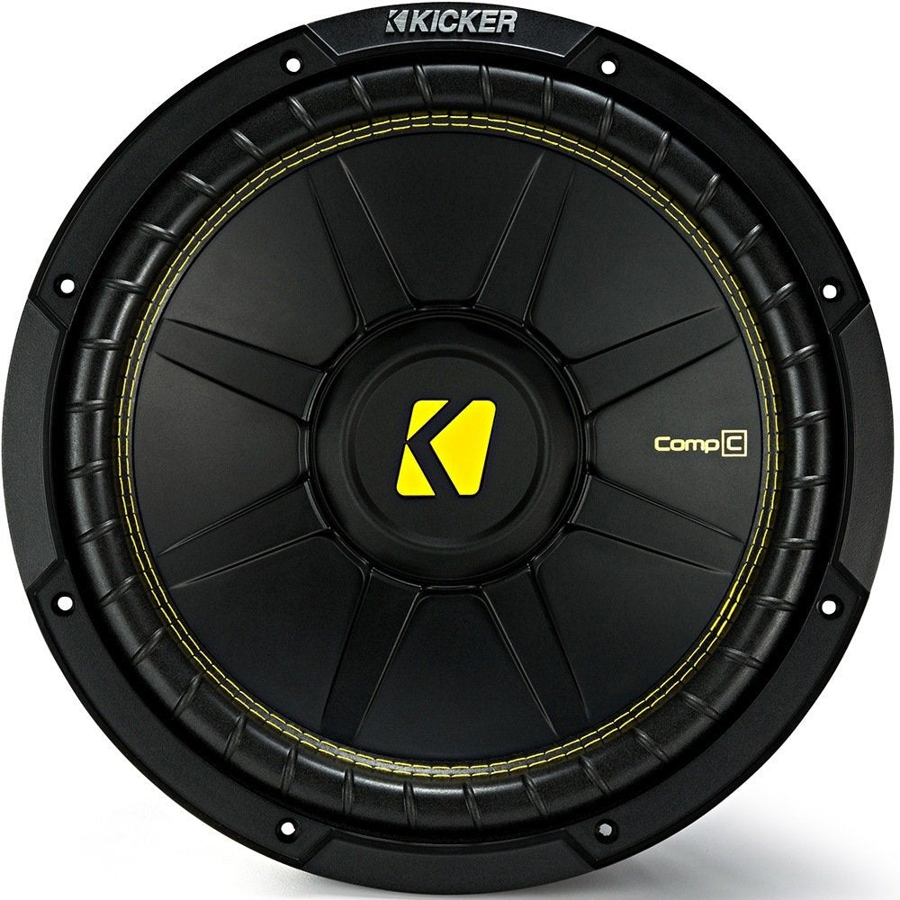 "Kicker 44CWCD84 CompC Series 8"" subwoofer with dual 4-ohm voice coils"