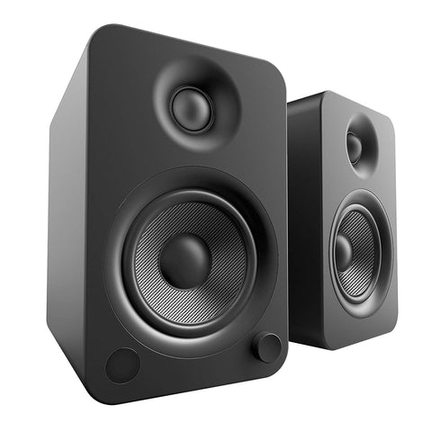 Kanto YU4 Powered Speakers with Bluetooth and Phono Preamp - Matte Black