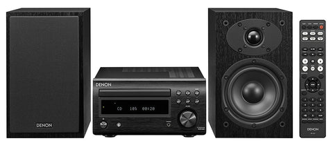 Denon D-M41SBK Micro HiFi System with CD Player, Bluetooth, FM/AM Tuner and USB