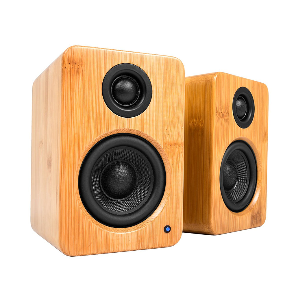"Kanto YU2 3"" 2-Way Powered Desktop Speakers (Pair) – Bamboo"