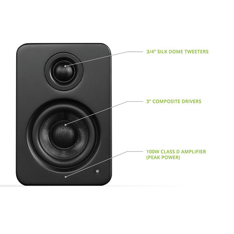 Kanto YU2 Powered Desktop Speakers – Matte Balck