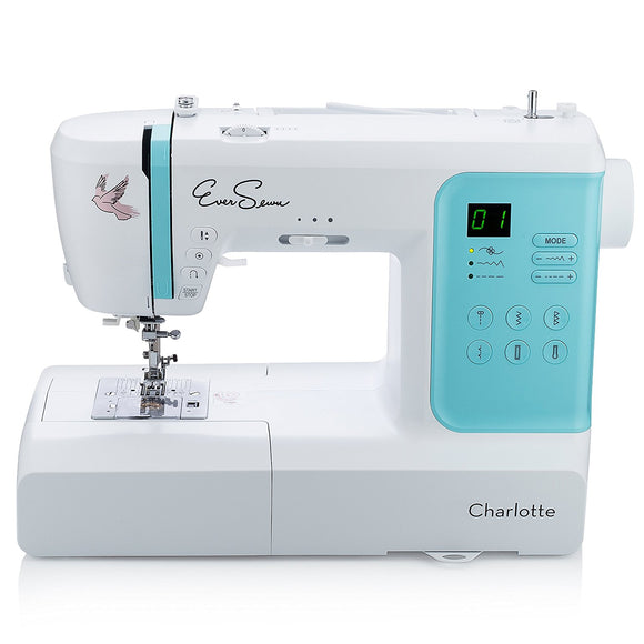 EverSewn Charlotte: 70-Stitch Computerized Sewing Machine, Professional Quilting & Free Motion Embroidery Features - Beginner to Expert