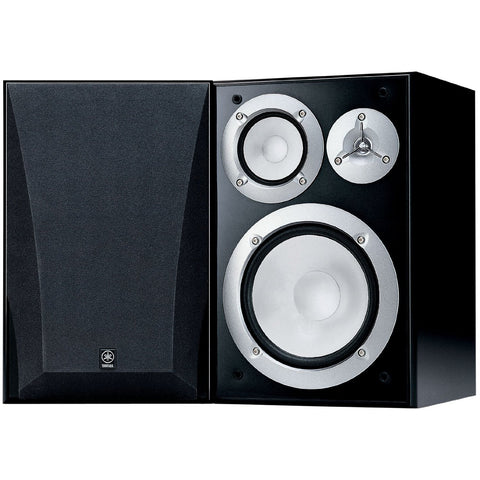 Yamaha NS-6490 3-Way Bookshelf Speakers, Black Finish ( Pair )