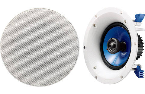"Yamaha NSIC600WH 6-1/2"" 2-Way In-Ceiling Speakers (Pair) - White"