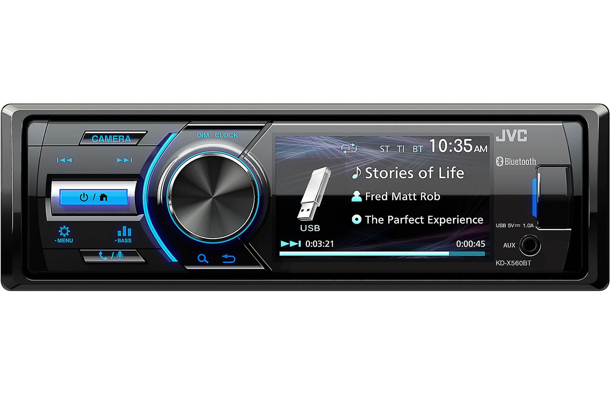 JVC KD-X560BT - Digital Media Marine Bluetooth Receiver iPhone/Android/USB/AUX (does not play CDs)