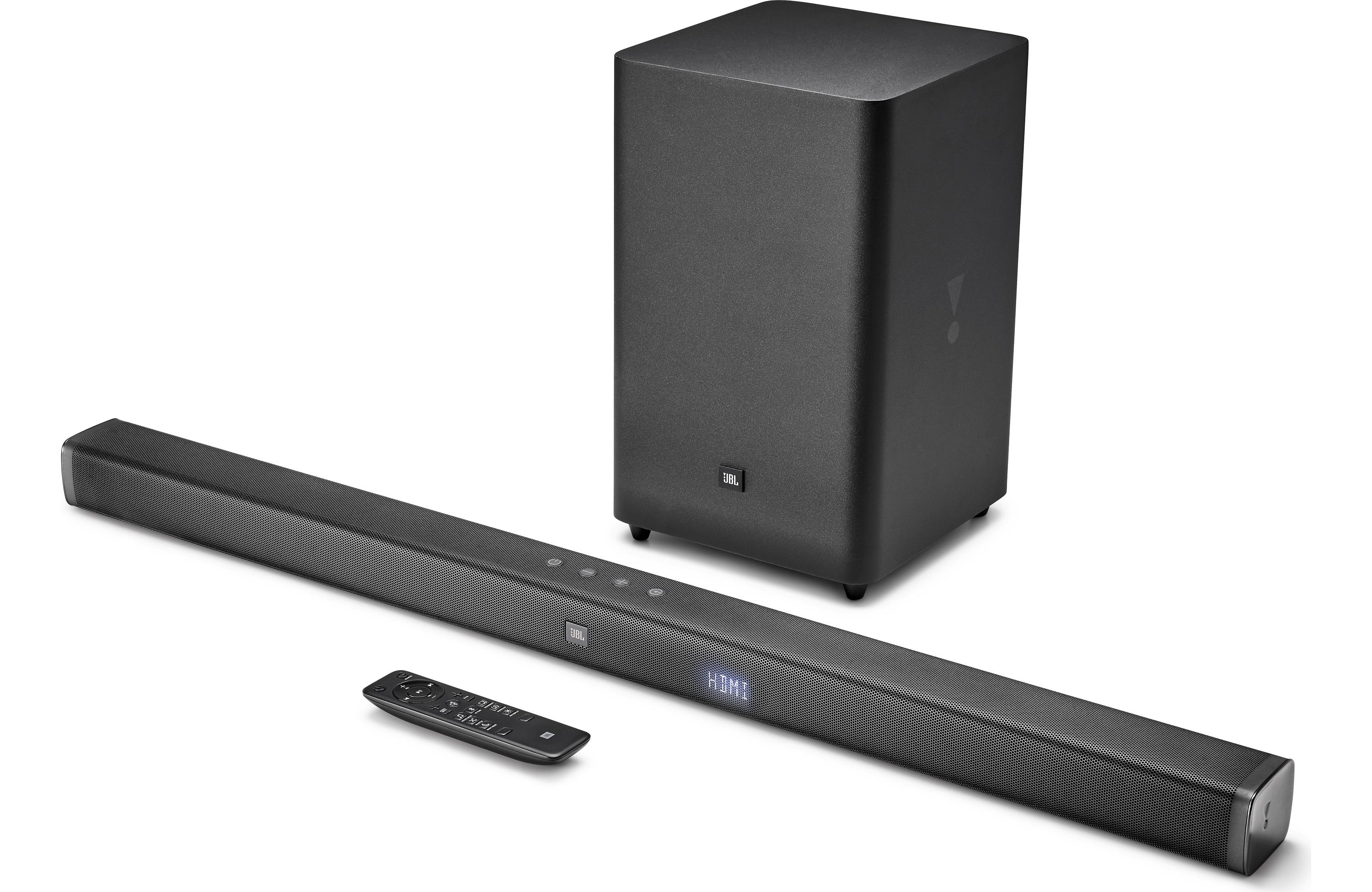 JBL Bar 2.1 Powered Sound Bar with Wireless Subwoofer and Bluetooth