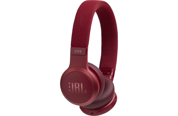 JBL Live 400BT Wireless On-Ear Headphones with Voice Control (Red)