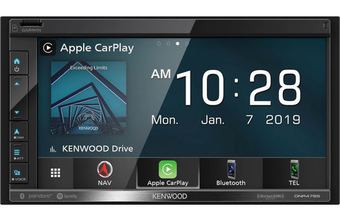 "Kenwood DNR-476R 6.8"" Navigation Receiver w/Carplay & Android Auto (does not play discs)"