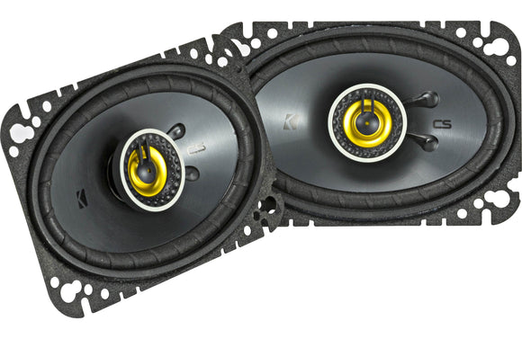 Roll over image to zoom in Kicker 46CSC464 Car Audio 4x6 Coaxial Full Range Stereo Speakers Pair CSC46