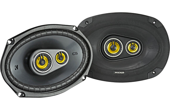 Kicker 46CSC6934 Car Audio 6x9 3-Way Full Range Stereo Speakers Pair