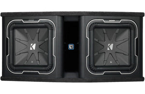 Kicker Q-Class DL712 Dual KICKER L7 12-inch Subwoofers in Vented Enclosure