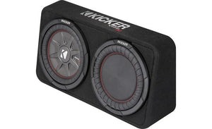 "Kicker CompRT 43TCWRT104 Enclosure with Single 10"" 4-ohm Subwoofer"