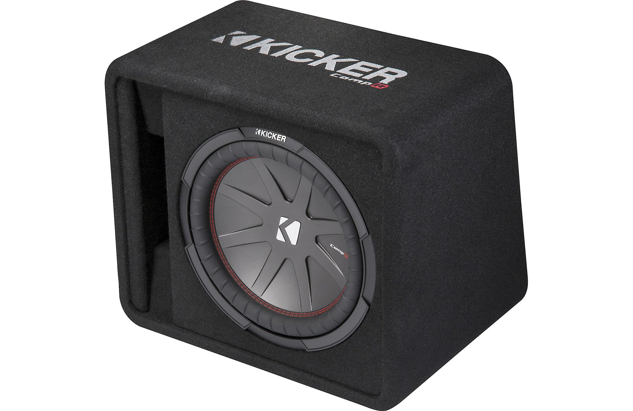 "Kicker 43VCWR122 Ported Enclosure With One 12"" CompR Subwoofer"