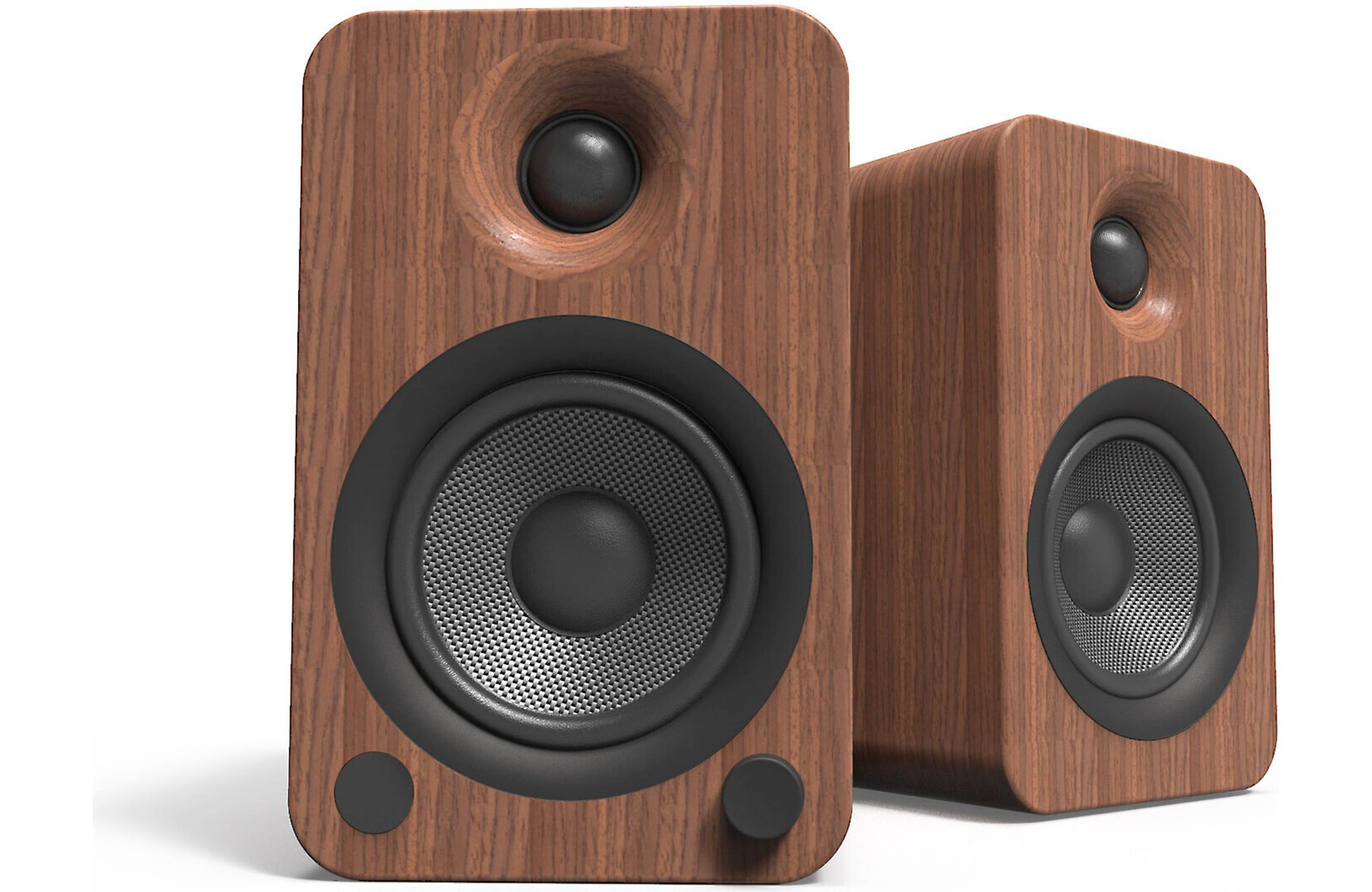 Kanto YU4 140W Powered Bookshelf Speakers with Bluetooth and Phono Preamp, Walnut