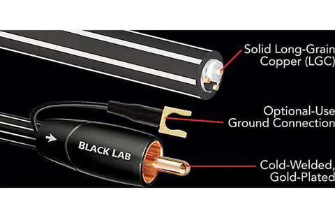 AudioQuest Black Lab 5m Subwoofer cable (5 meters/16.4 feet)