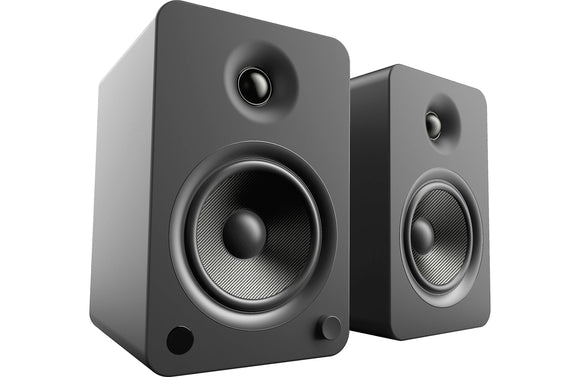 Kanto YU6 Powered Speakers with Bluetooth & Phono Preamp - Matte Black