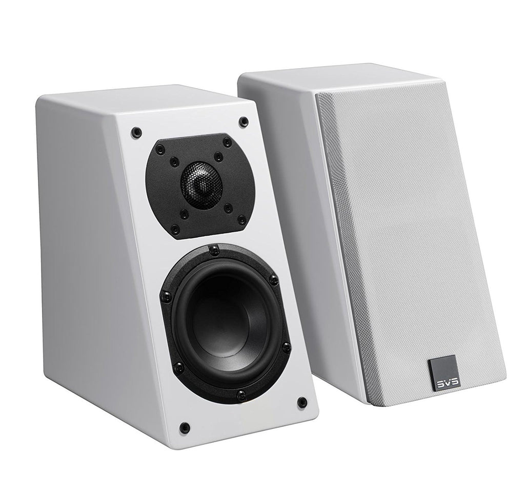 SVS Prime Elevation Speakers - Pair (White Piano Gloss)