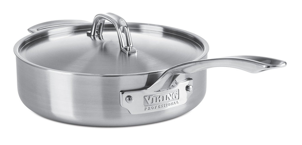Viking VIK40151034S Professional 5-Ply Saute Pan with Satin Finish, 3.4-Quart, Silver