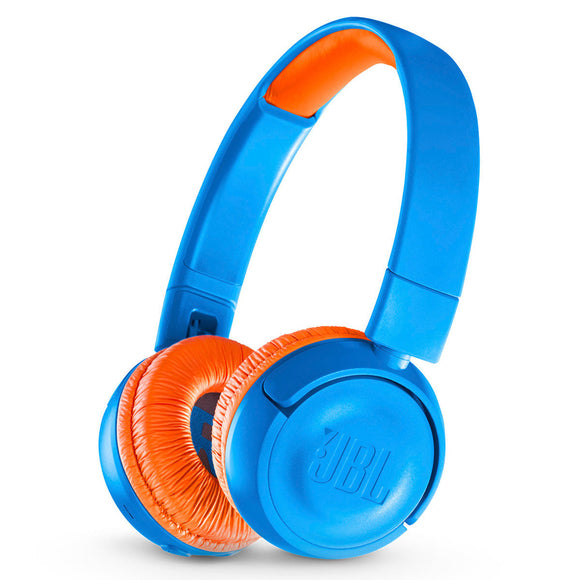 JBL JR 300BT Kids On-Ear Wireless Headphones with Safe Sound Technology - BLUE
