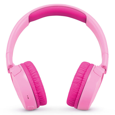 JBL JR 300BT Kids On-Ear Wireless Headphones with Safe Sound Technology - PINK