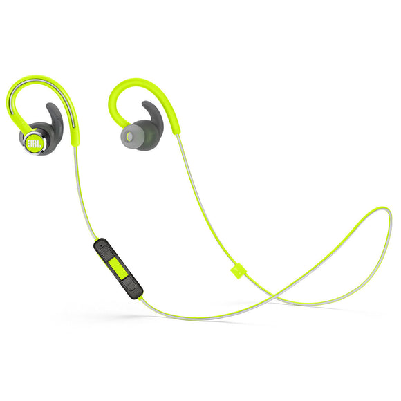 JBL Reflect Contour 2 Sweatproof Wireless Sport In-Ear Headphones - GREEN
