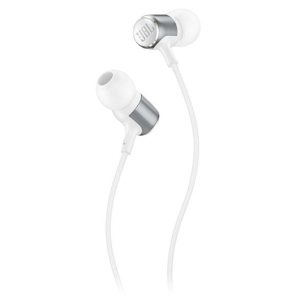 JBL Live 100 Earbuds with In-Line Microphone and Remote - White