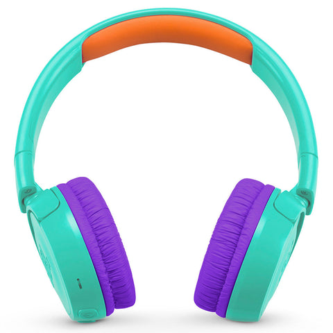 JBL JR 300BT Kids On-Ear Wireless Headphones with Safe Sound Technology - TEAL