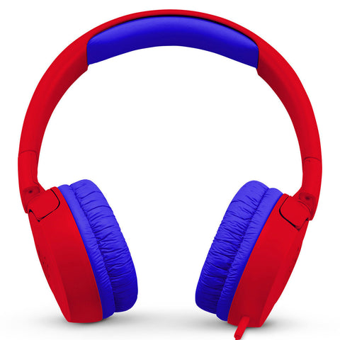 JBL JR 300 Kids On-Ear Headphones with Safe Sound Technology (Red)