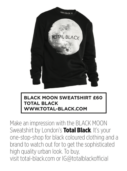 TOTAL BLACK IN BRITISH GQ BECOMING THE GO TO BRAND FOR THE COLOUR BLACK
